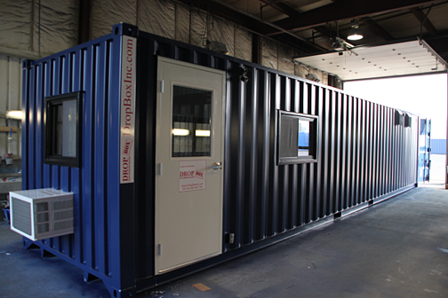 custom shipping container modification, shipping container modification, dropOffice, dropbox inc
