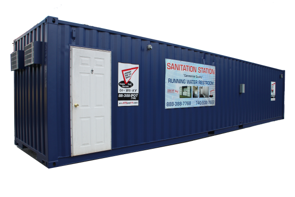 DropBox Inc, shower shack,shipping container modification,portable shower trailer,portable shower container,containerized shower trailer,containerized shower unit