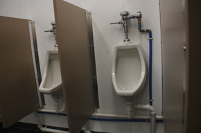dropbox inc, containerized restroom, containerized restroom trailer, sanitation station, shipping container restroom, restroom trailer