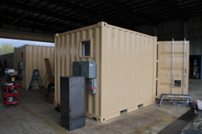 chemical storage unit, portable chemical storage, dropbox inc, shipping container modification