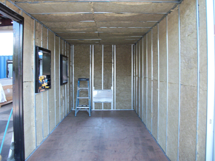 Custom Shipping container modification, modified shipping container, shipping container