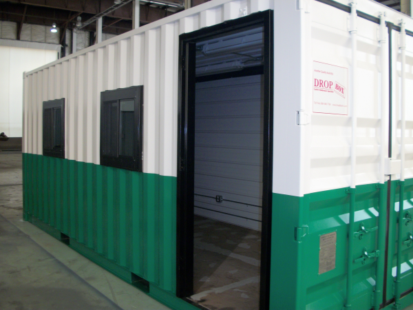 modular office, custom shipping container modification, shipping container modification