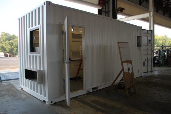 custom shipping container modification, DropBox Inc., containerized lab, mobile lab, portable lab, portable laboratory, modular lab, modular laboratory