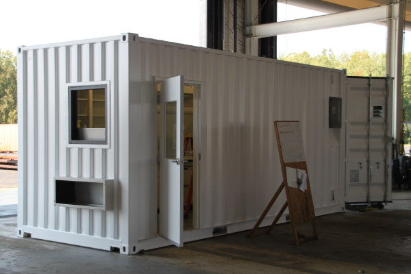 custom shipping container modification,DropBox Inc.,containerized lab,mobile lab,portable lab,portable laboratory,modular lab,modular laboratory