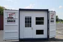 DropBox Inc, dropoffice, containerized office, office trailer, shipping container modification