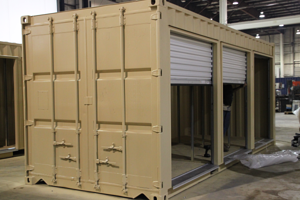 custom container modification,shipping container modification,custom shipping container modification,milvan modification,DropBox Inc,custom storage container,shipping container modifications