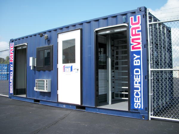 MSSI, MAC Portal, Turnstiles in a shipping container