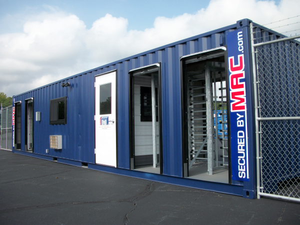 MSSI, MAC Portal, Turnstiles in a Container
