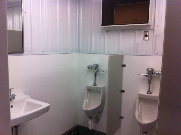 sanitation station, modular running water restroom, portable running water restroom