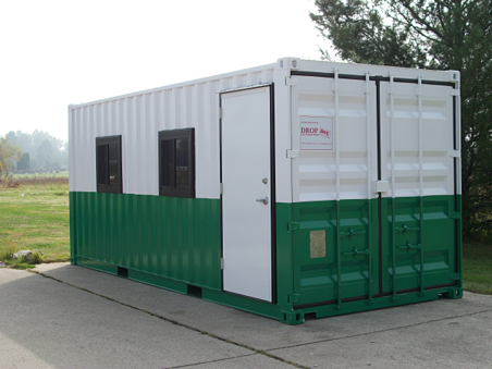 DropOffice, custom modular office, custom container modification