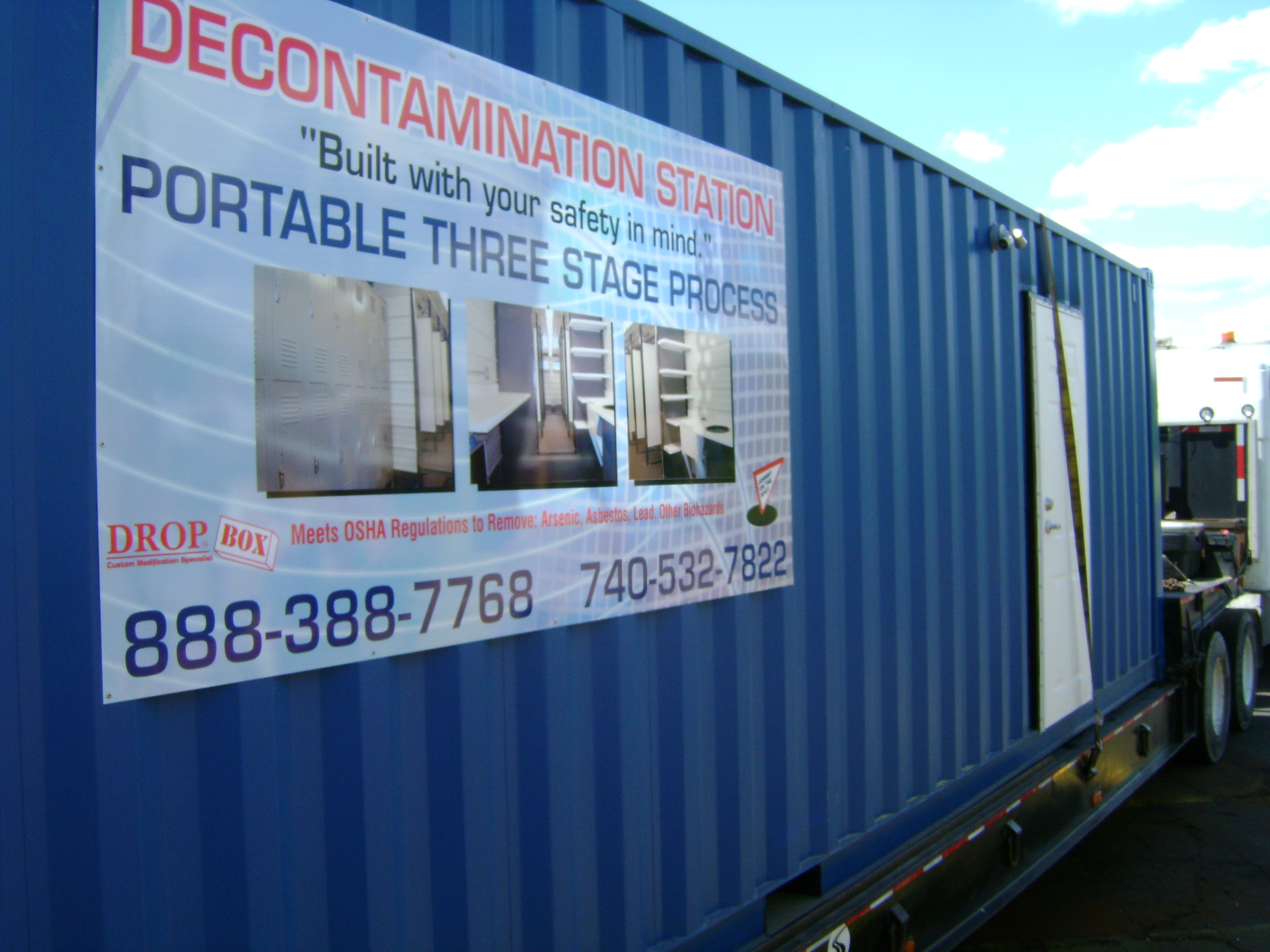 decontamination station, modular decontamination shower, modular decon shower
