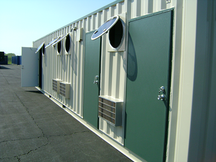 milvan container modifications, shipping container modifications, iso container modifications