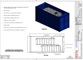 DropBox Inc., self contained restroom, shower shack, containerized restroom trailer, containerized sewer holding tanks, containerized septic system
