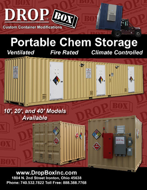 containerized chemical storage, portable chem storage, containerized hazardous chemical storage, portable chemical storage, hazardous chem storage, DropBox Inc., shipping container modifications