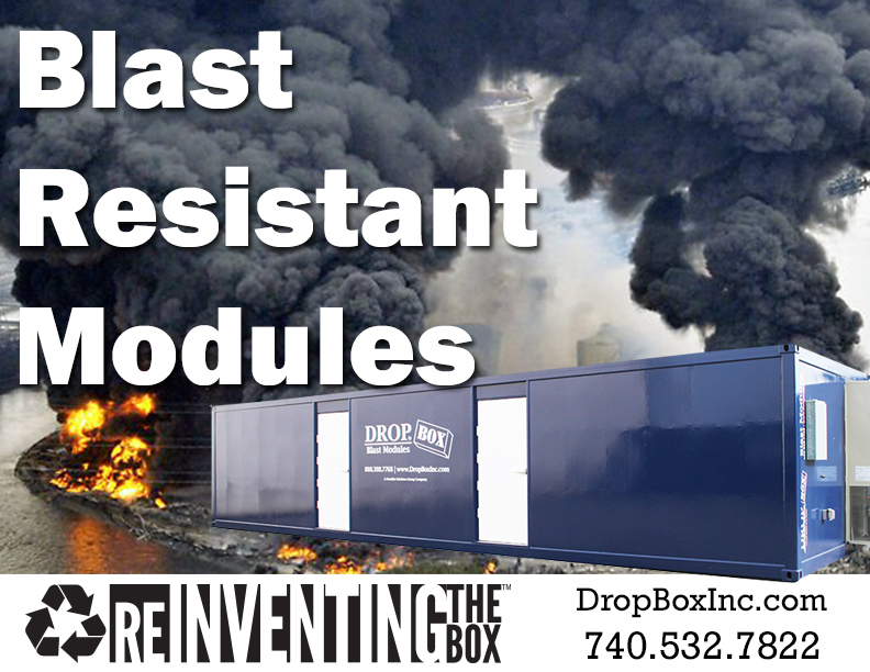 blast resistant ISO shipping container modificatio, blast resistant office, blast resistant break room, BRM, custom blast resistant modules, blast resistence, blast module, blast resistant tool crib, Custom BRM, blast resistant module