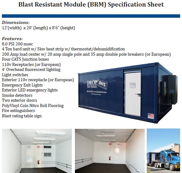 blast resistant office, custom blast resistant modules, blast module, blast resistant modules, blast resistant module, blast resistant module spec sheet, blast resistant module specification sheet