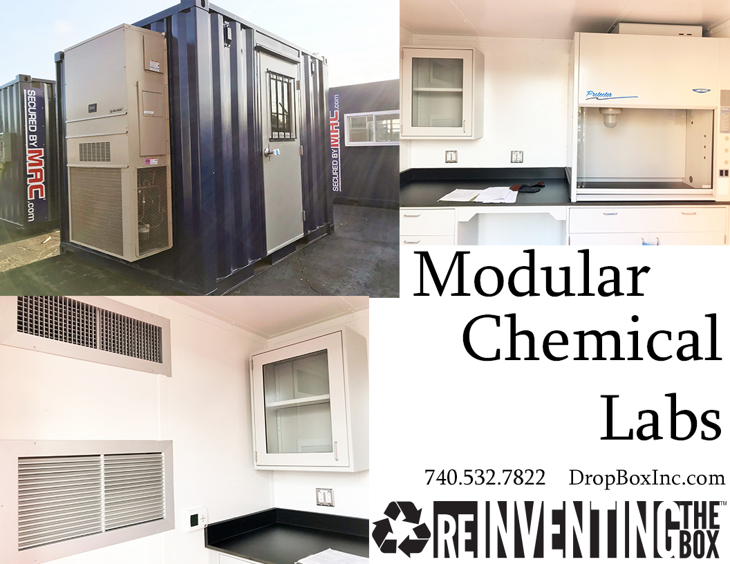 modular chemical laboratory, modular chemical labs, modular chemical lab, DropBox Inc, portable chemical testing, portable chemical lab, containerized lab, portable laboratory