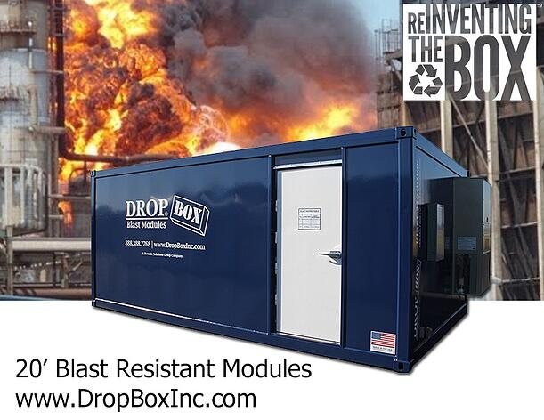 DropBox Inc, blast resistant office, blast resistant break room, BRM, blast module, blast modules, blast resistant tool crib, blast resistant modules
