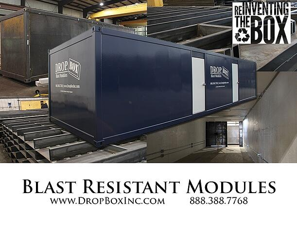 DropBox Inc, blast resistant office, blast resistant break room, custom blast resistant modules, portable blast resistant office, modular blast resistant office, blast modules, blast resistant tool crib, blast resistant modules, blast resistant module floor plan