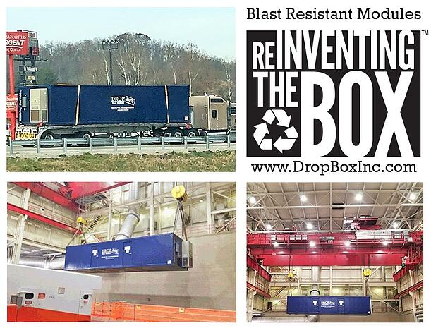 DropBox Inc, blast resistant ISO shipping container modificatio, BRM, custom blast resistant modules, blast modules, blast resistant modules, blast resistant module, American Electric Power, DC Cook Nuclear