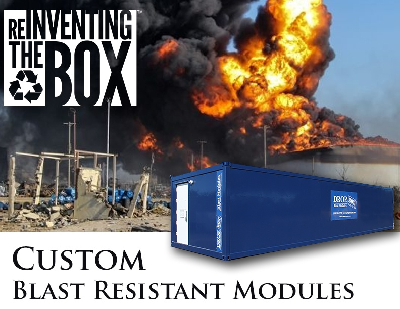 DropBox Inc, blast resistant office, blast resistant break room, BRM, custom blast resistant modules, blast module, blast resistant tool crib, blast resistant modules, Custom BRM