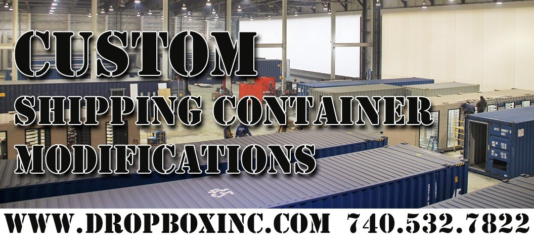 ISO Shipping container modifications, DropBox Inc, custom shipping container modification, custom ISO shipping container modification, ISO shipping container modification, storage container modification, storage container modifications