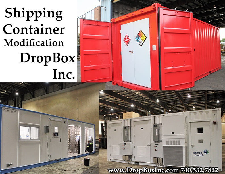 custom shipping container modification, shipping container modifications, ISO shipping container modification, shipping container modification, DropBox Inc, custom ISO shipping container modification