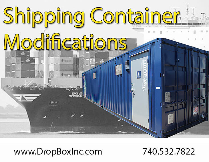 shipping container modification, ISO Shipping container modifications, DropBox Inc, shipping container modifications, custom shipping container modification, custom ISO shipping container modification