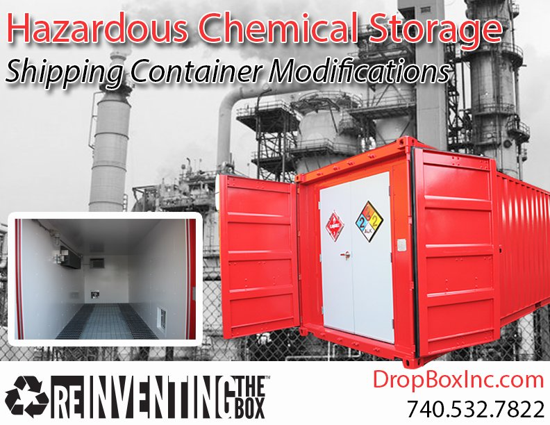 DropBox Inc, hazardous chem storage, containerized hazardous chemical storage, shipping container modification company, hazmat storage, portable hazmat storage, portable hazmat chemical storage, hazmat chemical storage