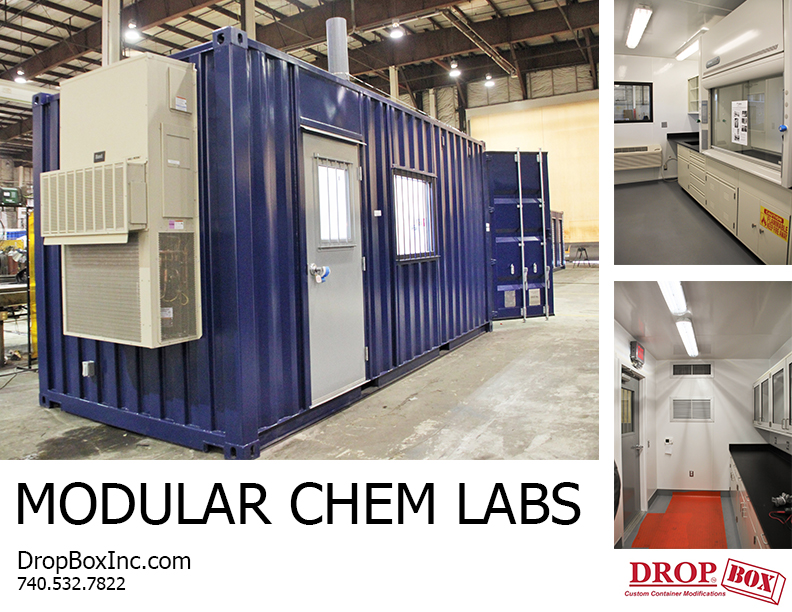 DropBox Inc, portable laboratory, portable chemical lab, containerized lab, portable lab, modular lab, modular laboratory, modular chemical lab, modular chemical labs, modular chemical laboratory