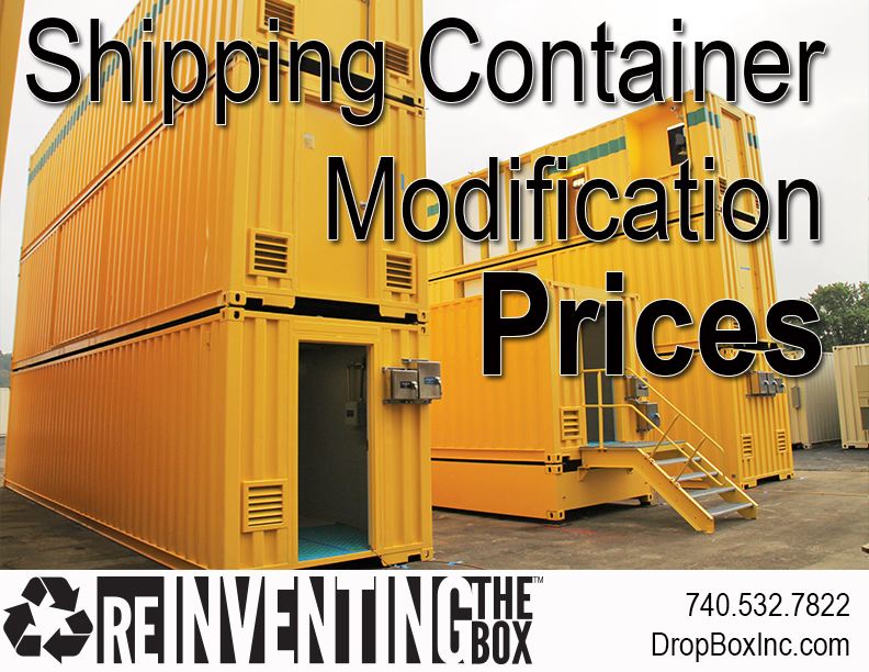 DropBox Inc, shipping container modification company, DropBox Inc Pricing, shipping container modification price, price for shipping container modification, shipping container price