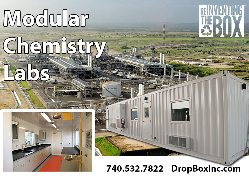 DropBox Inc, modular lab, modular laboratory, modular chemical lab, modular chemical laboratory, chemical lab in a shipping container, chemical lab in a container, liquid natural gas, lng