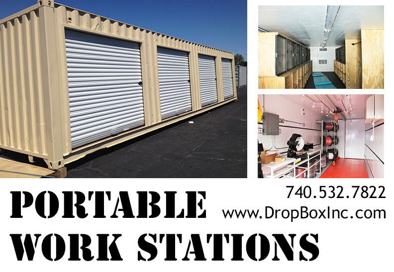 DropBox Inc, shipping container modifications, modular workstation, modular work station, portable workstation, portable work station, custom shipping container modification, containerized work station, shipping container modification company
