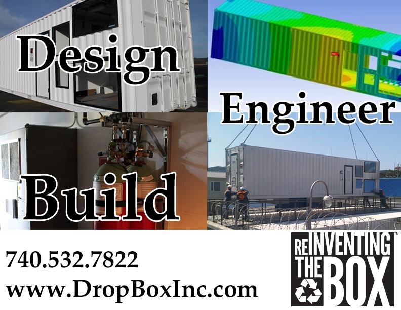shipping container modification, ISO Shipping container modifications, DropBox Inc, shipping container modifications, storage container modification