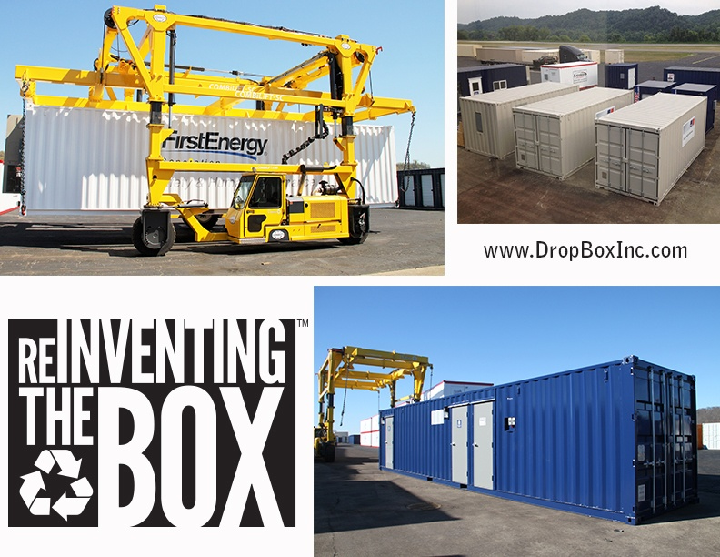 DropBox Inc, shipping container modifications, custom shipping container modification, custom ISO shipping container modification, modular laboratory, portable restrooms, ReinventingTheBox