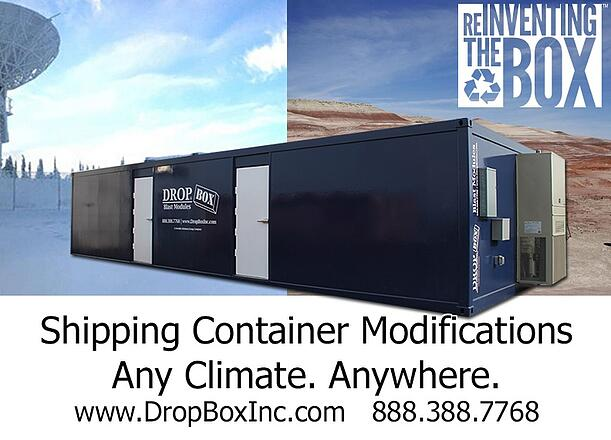 ISO Shipping container modifications, DropBox Inc, conex container modification, custom shipping container modification, connex container modification, custom container modification, custom ISO shipping container modification, ISO shipping container modification