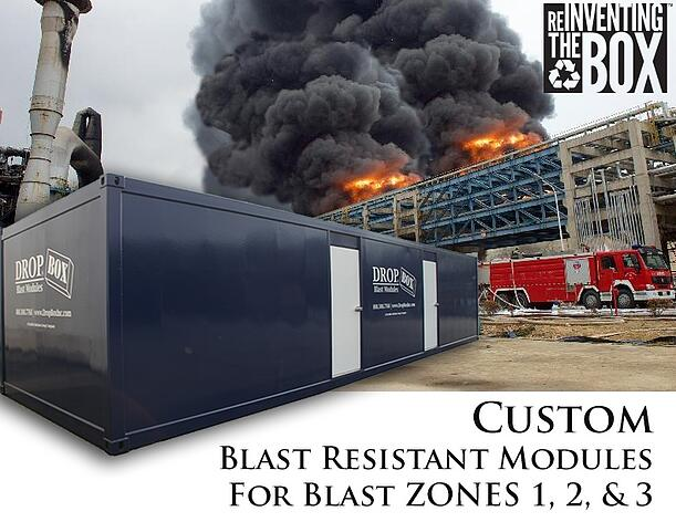 DropBox Inc, blast resistant office, blast resistant break room, custom blast resistant modules, portable blast resistant office, modular blast resistant office, modular blast resistant break room, blast modules, blast resistant tool crib, blast resistant modules