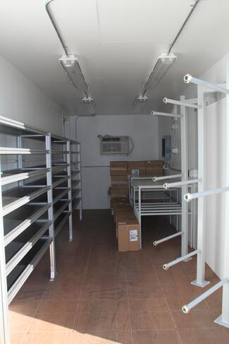 ISO Shipping container modifications, DropBox Inc, modular workstation, modular work station, custom container modification, custom ISO shipping container modification, ISO shipping container modification, mobile work station, mobile workstation