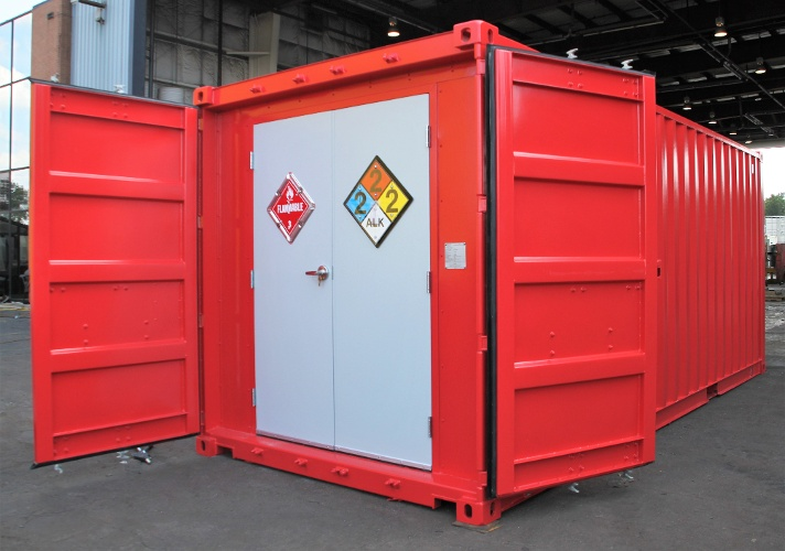 hazardous chem storage, containerized hazardous chemical storage, hazmat storage, portable hazmat storage, portable hazmat chemical storage, hazmat chemical storage