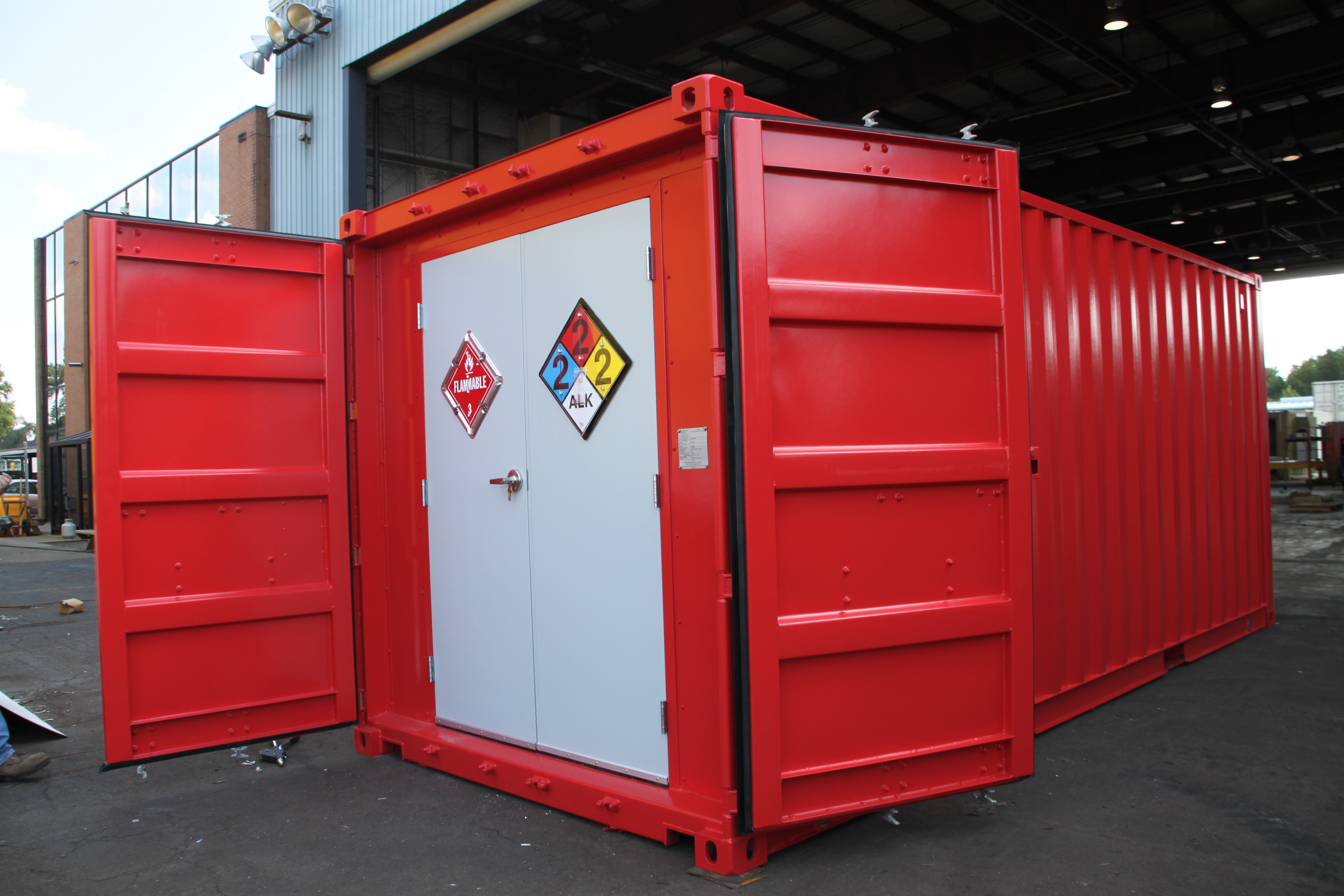 DropBox Inc Updated 20 Modular Hazmat Storage Containers