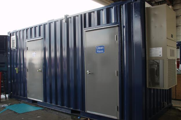 Decontamination Showers, shipping container modification, ISO Shipping container modifications, DropBox Inc, shipping container modifications, Decontamination Shower, decontamination station, ISO shipping container modification, Decon Shower, containerized decon shower, portable decon shower, modular decon shower