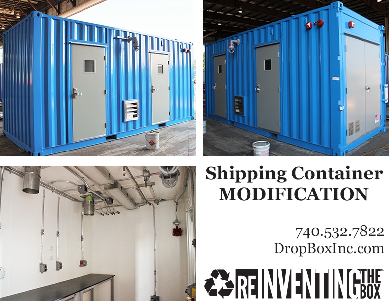shipping container modification, ISO Shipping container modifications, DropBox Inc, shipping container modifications, connex container modification, ISO shipping container modification, shipping container modification company, storage container modification, storage container modifications