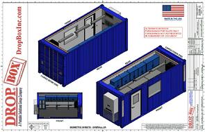 DropBox Inc, portable laboratory, portable chemical lab, containerized lab, mobile lab, portable lab, modular lab, modular laboratory, mobile laboratory