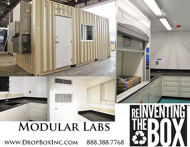 DropBox Inc, ISO shipping container modification, portable laboratory, portable chemical lab, containerized lab, mobile lab, portable lab, modular lab, modular laboratory, mobile laboratory