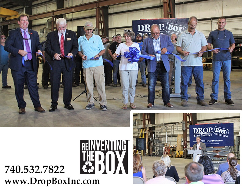 DropBox Inc, shipping container modification company, New Manufacturing Facility, ribbon cutting