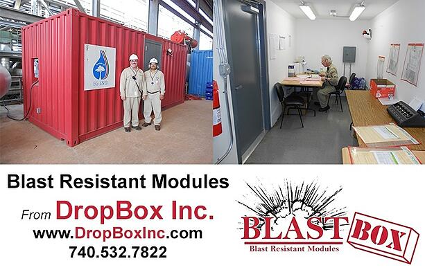 shipping container modification, DropBox Inc, blast resistant ISO shipping container modificatio, blast resistant office, blast resistant break room, custom blast resistant modules, blast resistence, portable blast resistant office, modular blast resistant office, modular blast resistant break room, blast box
