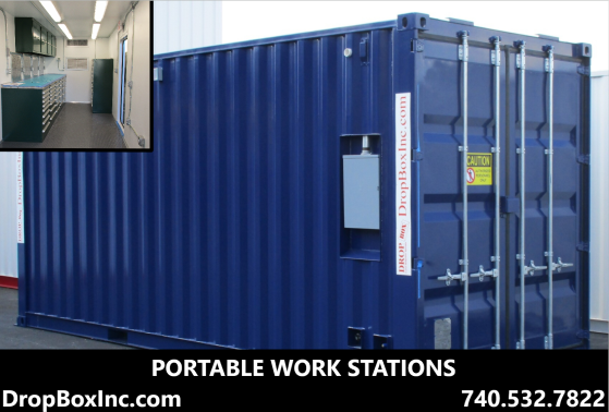 DropBox Inc, modular work station, portable work station, containerized work station, mobile work station, ReinventingTheBox