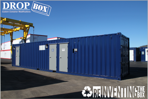 running water restroom, self contained restroom, portable toilets, modular running water restroom, shipping container restroom, containerized restrooms, portable running water restroom, RWRs