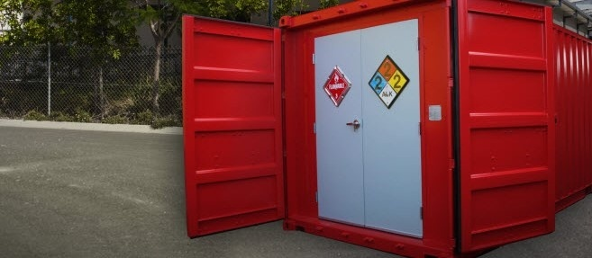 chemical storage, hazmat chemical storage, portable chemical storage, dropbox inc, shipping container modification