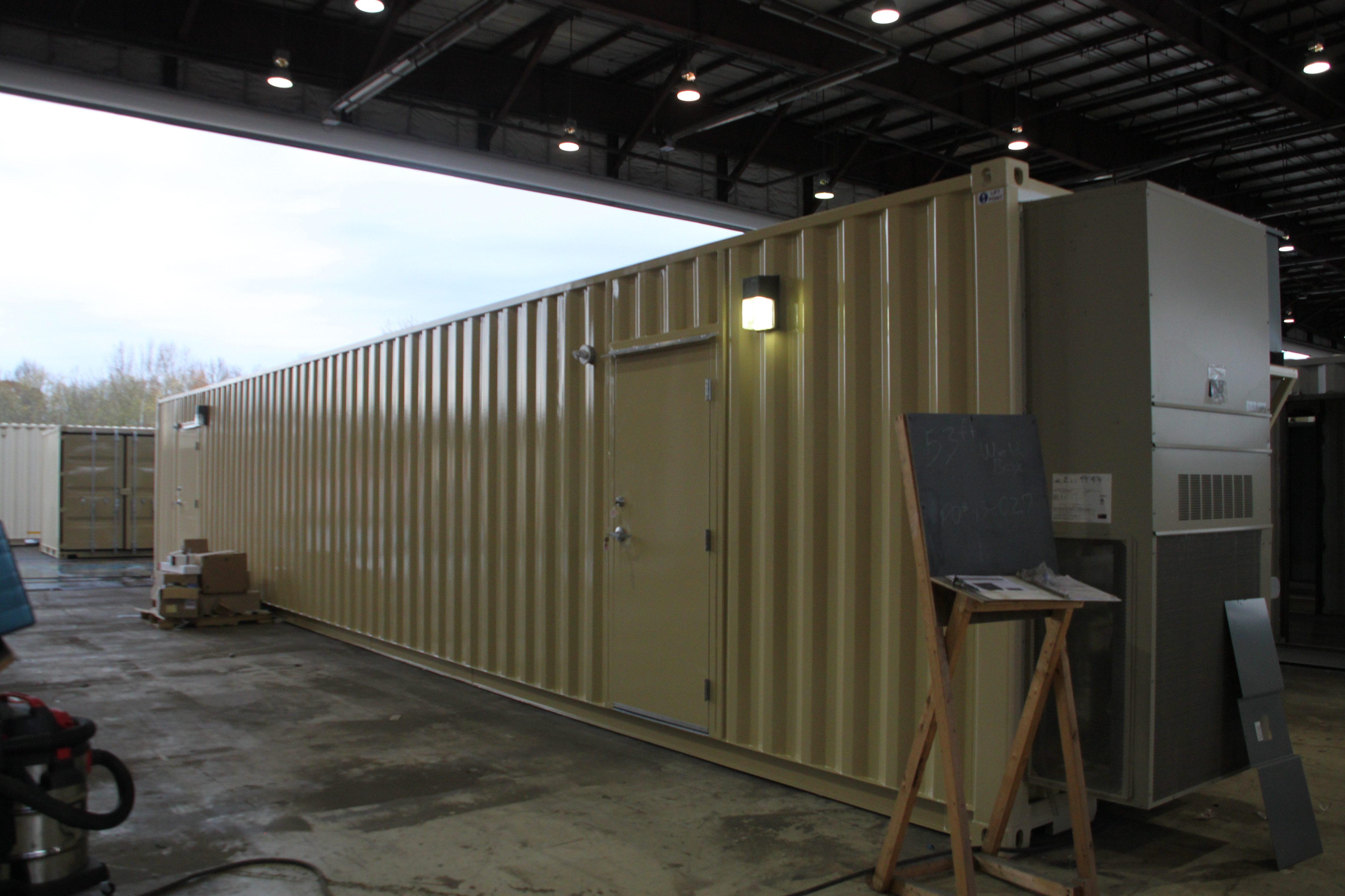 Welding Station, DropBox Inc, shipping container modifications, portable welding station, containerized welding station, modular welding training station, welding testing station